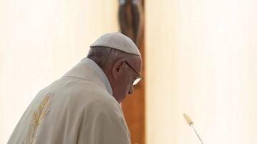 El papa Francisco pronuncia su homilía