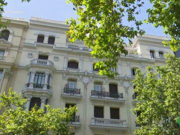 Un edificio del barrio de Salamanca