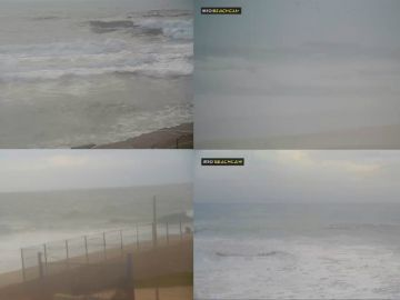 Imágenes de la retransmisión en directo del estado de las playas portuguesas