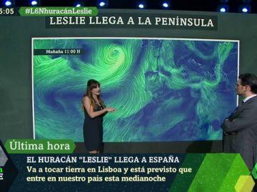 Imagen del huracán Leslie