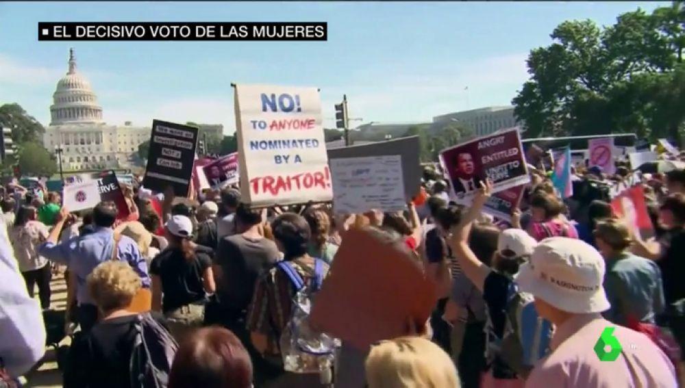 Protestas en Estados Unidos frente al Congreso