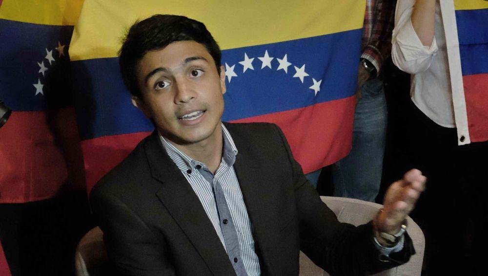 El exdirigente estudiantil venezolano Lorent Saleh.