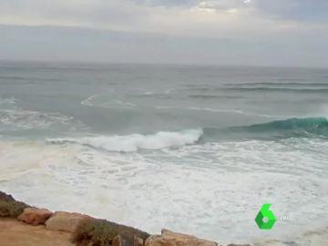 Imagen de la llegada de Leslie a la Península Ibérica