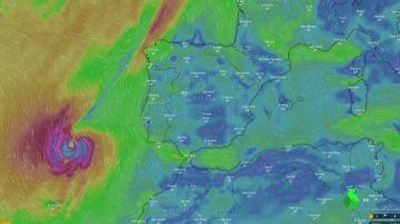 Imágenes en satélite del huracán Leslie: así se ve desde el espacio su gran cercanía con España
