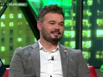 Gabriel Rufián, en laSexta Noche