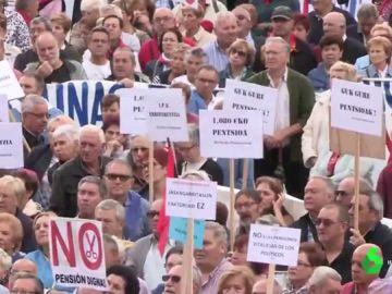Imagen de una manifestación de pensionistas