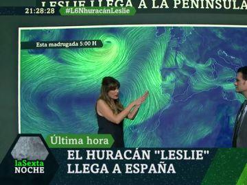 Joanna Ivars explica cómo Leslie puede provocar olas de hasta siete metros