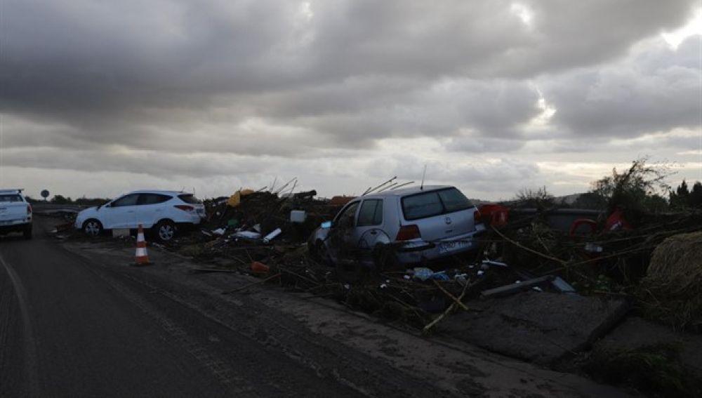 Imagen de la devastación tras las inundaciones en Mallorca