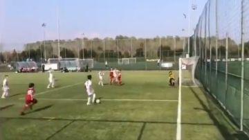 Cristiano Ronaldo Jr. marca un gol con la Juve