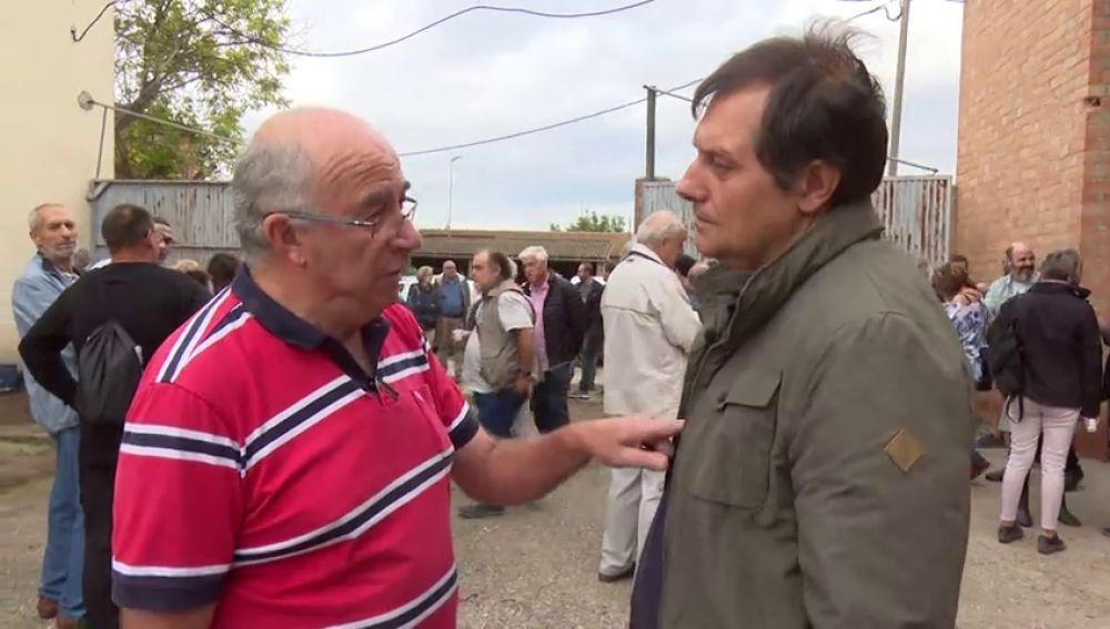 Josep Pàmies habla con Leo Álvarez
