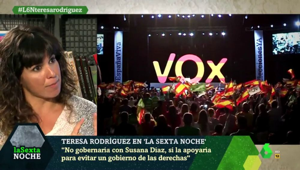 Teresa Rodríguez, en laSexta Noche