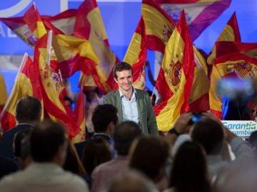 El líder del PP, Pablo Casado en un acto en Málaga