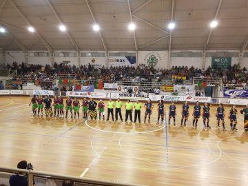 La selección española de hockey femeino se prepara para el partido