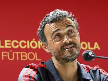 Luis Enrique, en rueda de prensa