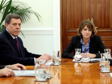 La ministra de Justicia, Dolores Delgado se reúne con Juan Carlos Quer
