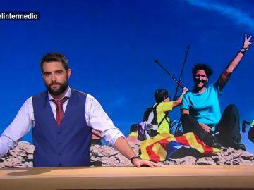 """Dani Mateo, tras el ascenso de los independentistas a los picos catalanes: """"Puede que no consigan liberar a los presos, pero van a conseguir unos glúteos de hierro"""""""