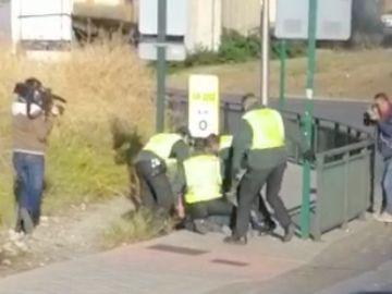 Imagen de la detención en Granada