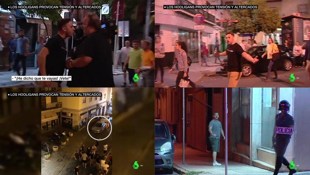 Hooligans ingleses en Sevilla