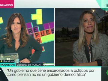 """Míriam Nogueras (PDeCAT): """"Pedimos que se deje de vender un relato forzado y construido por un juez"""""""