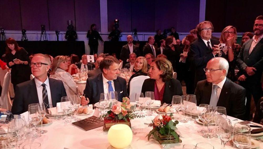 La mesa presidencial de la cena del Premio Planeta