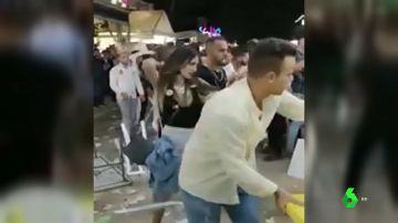 Las imágenes de la multitudinaria pelea en la Feria de Jaén