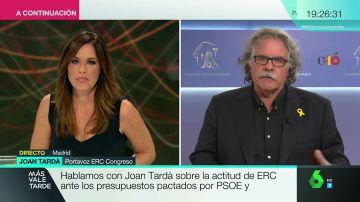 """Joan Tardà, sobre la actitud de ERC ante los Presupuestos: """"No vamos a negociar nada si el Gobierno no habla con la Fiscalía"""""""
