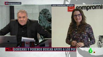 Antonio García Ferreras y Mónica Oltra