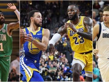 Irving, Curry, LeBron James y Doncic, nombres propios de la nueva temporada en la NBA