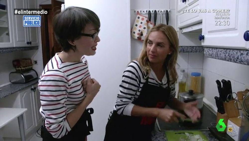 """El día que Thais Villas puso a la diputada Susana Sumelzo a cocinar para una familia: """"Esto es inexplicable, ¿cómo llega uno a estas cosas?"""""""