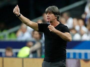 Joachim Löw, en el partido ante Francia en París