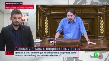 Gabriel Rufian y Pablo Iglesias