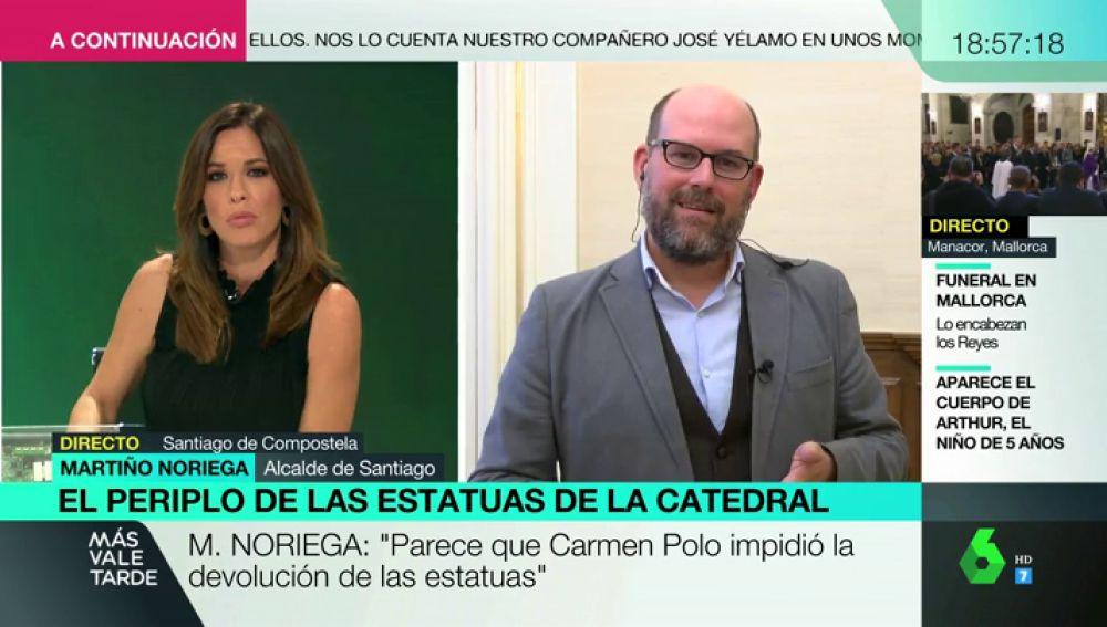 """El alcalde de Santiago, sobre las estatuas que tienen los Franco: """"Están reconociendo la usurpación y el robo"""""""