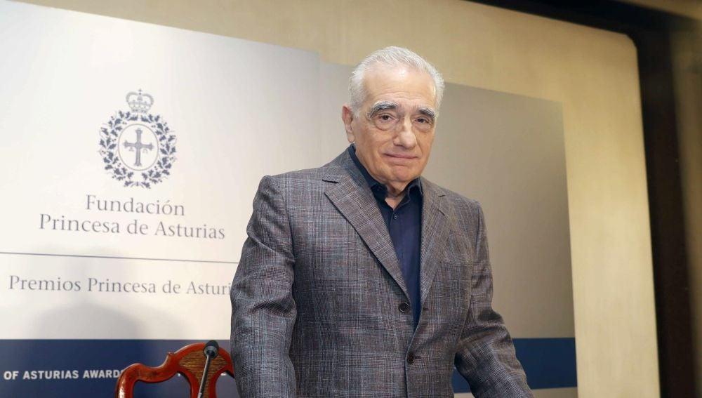 Martin Scorsese en un encuentro con los medios de comunicación en Oviedo