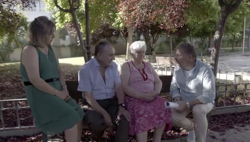 Enrique, un residente de un centro de ancianos