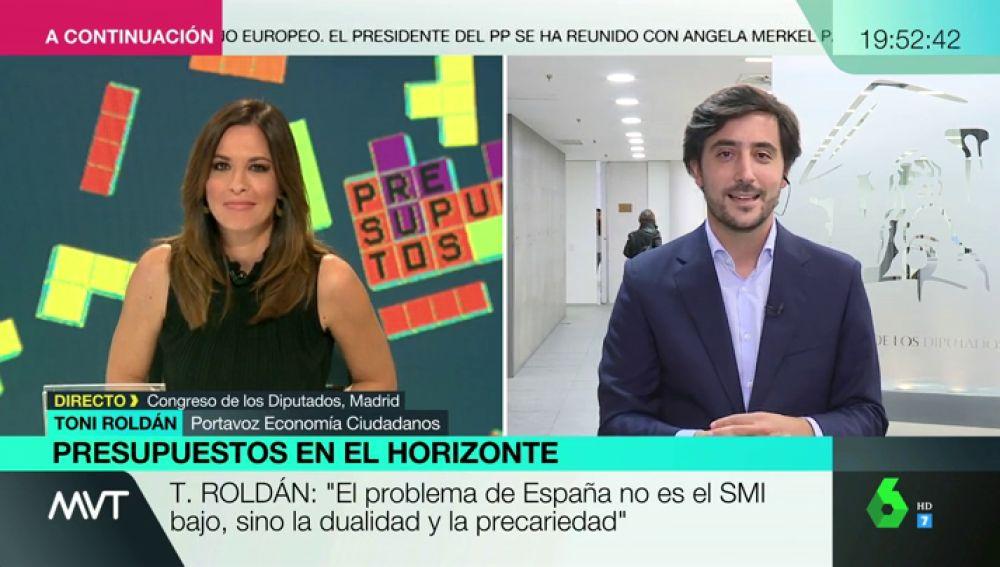 """Toni Roldán, portavoz de Economía de Ciudadanos: """"Los presupuestos de Sánchez son potencialmente ilegales"""""""