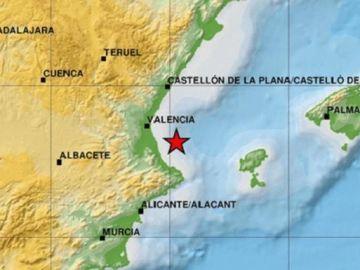 Terremoto en el Golfo de Valencia