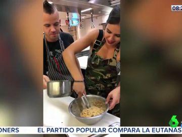 El vídeo que muestra los increíbles avances de Cristina Pedroche en la cocina con unos espaguetis carbonara