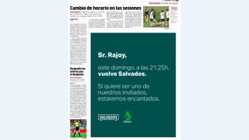 Campaña de Salvados en el diario Marca