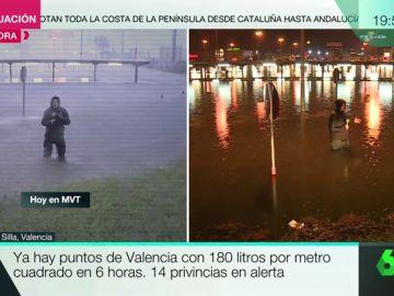 El directo más difícil de Javier Borrás: en plena tromba de agua con 100 litros por metro cuadrado en Silla, Valencia