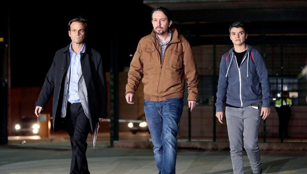 Pablo Iglesias a su salida de la prisión de Lledoners