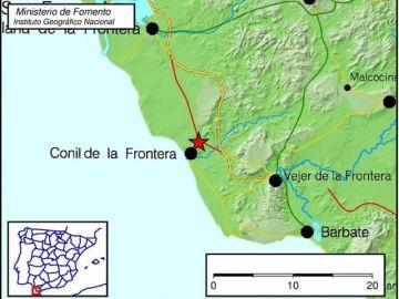Registrado un terremoto de magnitud 4 en Conil de la Frontera