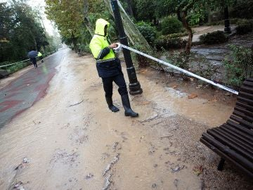 La lluvia que caía a primera hora de la tarde en el centro de Castellón