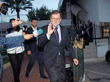 Mariano Rajoy dejando Santa Pola