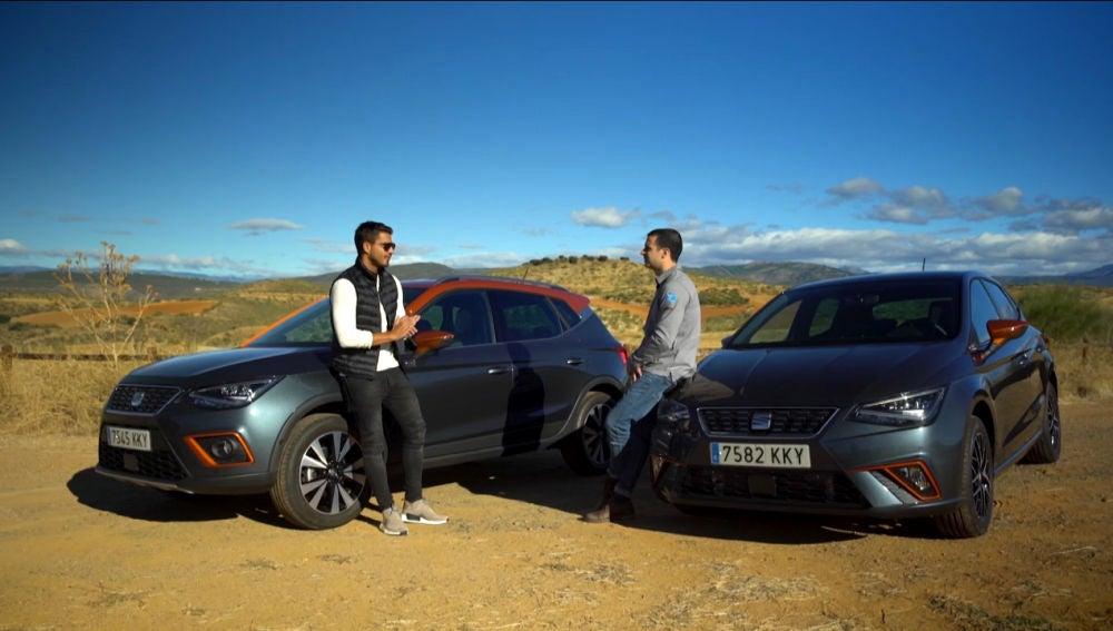 Maxi Iglesias prueba los Seat Arona e Ibiza Beats