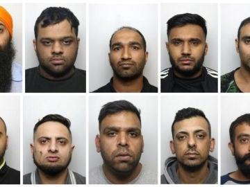 Imagen de 10 de los 20 condenados por abusar de menores en Reino Unido