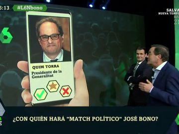Torra, Aguirre, Sánchez y Junqueras: ¿hará 'match político' José Bono con alguno de estos políticos?