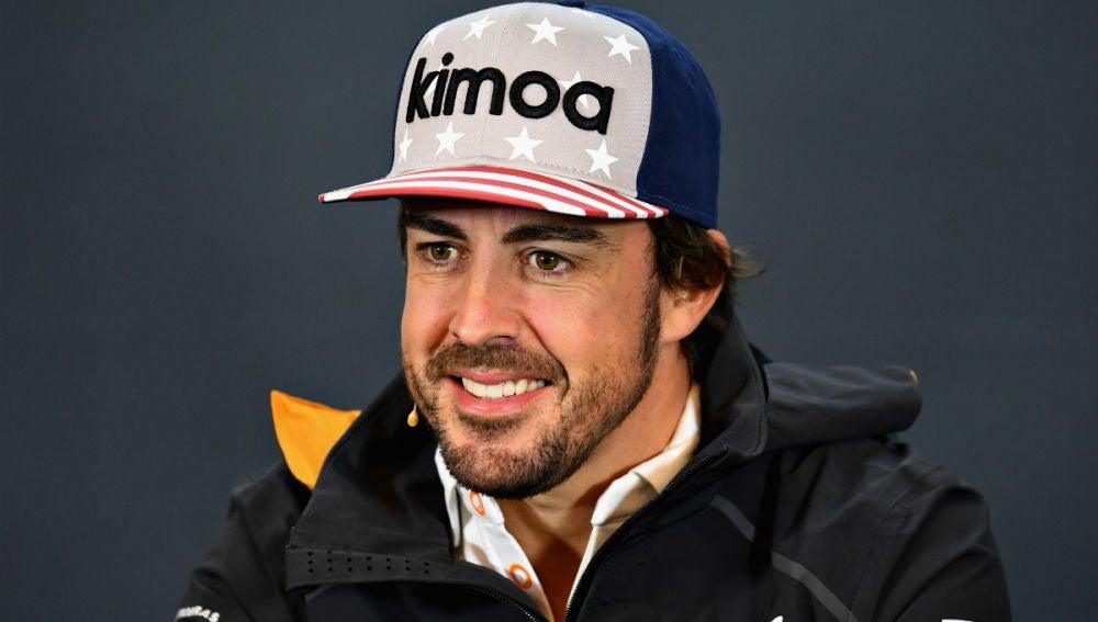 Fernando Alonso, en rueda de prensa