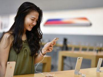 El iPhone 8 en un Apple Store