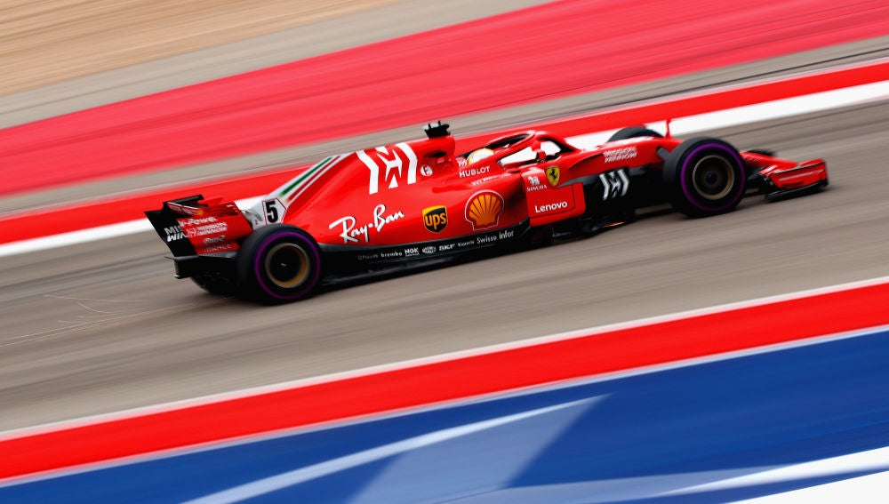 Sebastian Vettel, en los Libres 3 del GP de EEUU