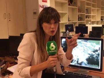Joanna Ivars explicando la previsión del tiempo